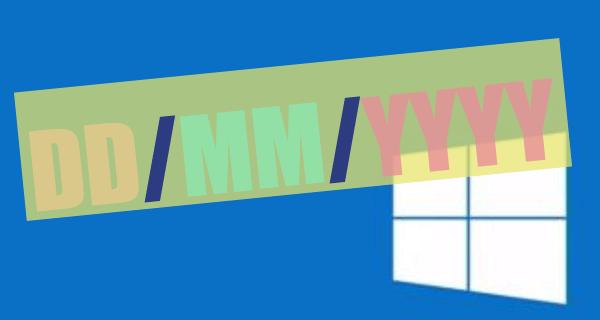 change Windows 10 date format copy