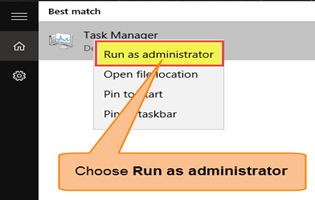 Windows run as administratort