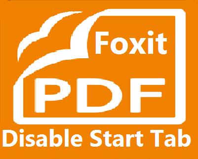 foxit logo disable