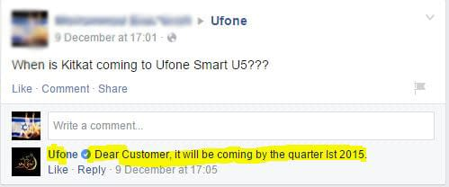 Kitkat Update for Ufone Smart u5